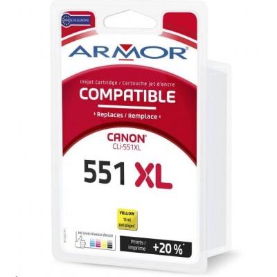 ARMOR cartridge pro CANON MG5450, 6350, Yellow 13 ml, (CLI551YXL)